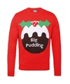 Rode kerst sweater Big Pudding voor heren XL (44/54) Rood