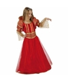 Verkleedjurk rood met gouden details voor kinderen