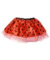 Rode lieveheersbeestje tutu voor meisjes One size Rood