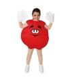 Rode snoep feestkleding kinderen 7-9 jaar Rood