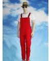 Rode tuinbroek voor dames en heren