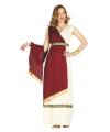 Romeinse keizerin kostuum rood en wit