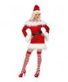 Rood fluwelen kerstpakje voor dames L Rood