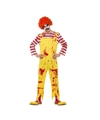 Rood/gele horror clown verkleedkleding voor heren 48-50 (M) Geel