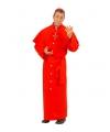 Rood Kardinaal kostuum voor mannen XL Rood