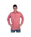 Rood met wit geruite blouse voor heren 56-58 (2XL/3XL) Rood