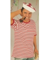 Rood met wit gestreepte matrozen shirt L Multi