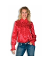 Rood overhemd met rouches 38 (M) Rood
