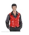 Rood pailletten vestje voor heren XL Rood