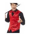 Rood pailletten vestje voor heren 56-58 (XL) Rood