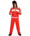 Rood/wit verkleed trainingspak voor heren M Rood