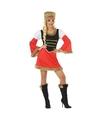 Rood/zwart Kozakken jurkje voor dames XS/S (34-36) Multi
