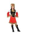 Rood/zwart Kozakken jurkje voor meisjes 116 (5-6 jaar) Multi