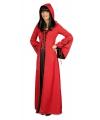 Rood zwarte jurk met capuchon 36/38 Multi