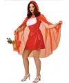 Roodkapje dames kostuum met cape 36 (S) Rood