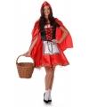 Roodkapje jurk en cape voor dames 34 (XS) Rood
