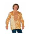 Luxe heren rouche overhemd goud