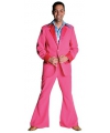 Roze colbert en broek voor heren
