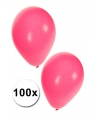 Zak roze ballonnen 100 stuks