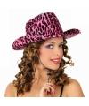 Luipaard hoeden roze