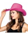 Roze cowboyhoed met glitters
