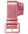 Roze riem met glitters