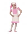 Roze konijn kostuum voor meisjes 110 Roze