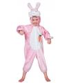 Roze konijnen pakje voor kinderen 128 Roze
