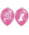 Dames vrijgezellenfeest thema ballonnen
