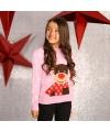 Roze winter trui rendier voor meiden 9/10 jaar (140/152) Roze