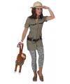 Safari outfit voor dames 36 (S) Multi