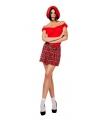 Schoolmeisje rok met rode ruiten 36 (S) Rood