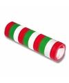 Serpentine rol groen/rood/wit