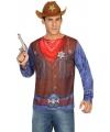 Sheriff cowboy shirt verkleedoutfit S Multi