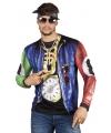 Shirt met rapper opdruk M Multi
