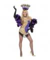 Showgirl jurkje goud/paars M Multi