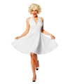 Sixties jurk Marylin voor dames 46 (3XL) Wit