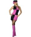 Seventies jurkje voor dames roze