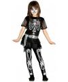 Skelet juwelen meisjes kostuum 128-134 (7-9 jaar) Zilver