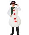 Sneeuwman kostuum voor kinderen 128 (7-9 jaar) Wit