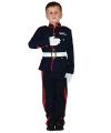 Soldaten pak voor jongens 140 - 8-10 jr Blauw