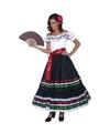 Spaanse danseres verkleedkleding voor dames 44-46 (L) Zwart