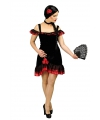 Spaanse flamenco jurk dames met accessoires 40/42 Zwart