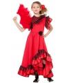 Spaanse kleding voor meisjes 140 Rood