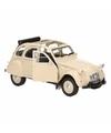 Beige lelijke eend auto open dak 1:36 schaalmodel
