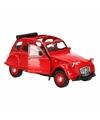 Rode lelijke eend open dak auto 1:36 schaalmodel