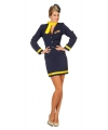 Stewardess uniform voor dames 38 (M) Multi