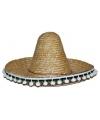 Naturel Mexicaanse sombrero 60 cm
