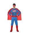 Superhelden kostuum blauw/rood voor heren M/L Multi