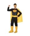 Superhelden kostuum zwart/geel voor heren M/L Multi